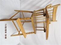Wooden Child's highchair