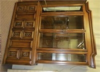 2 piece china buffet, beveled glass front and
