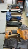 Lot of 3 Pneumatic Air Nailers