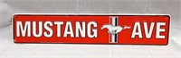 """Embossed FORD """"Mustang Ave"""" Metal Sign"""