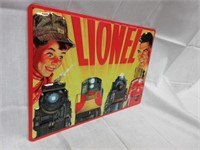 "Embossed LIONEL ""Father andn Son"" Metal Sign"
