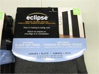 "Pair of ECLIPSE Black Out ""Samara Black"" Curtains"