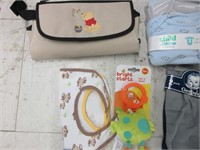 Lot of Infant Boy Clothing, Change Mat and Toy