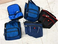 Lot of Five Insulative Lunch Boxes