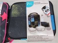 Pair of 7 Piece Lunch Box Kit Set