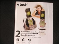 VTECH TWO HANDSET CORDLESS PHONE SYSTEM
