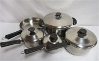 Lagostina 9 piece pots and pans