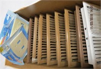 8 heat vents and light switch covers
