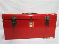 Mastercraft steel tool box with tray