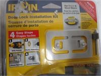 Door lock installation kits, door closer and box