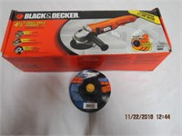 "Black & Decker 4.5"" angle grinder with 15 metal"