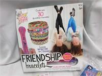 Sticker and Letter Art,  Bracelet Kit and Knitting