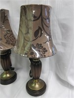 Pair of Small Tanned Modern Lamps