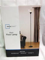 Black Finish Standing Floor Lamp