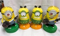 Lot of 4 Ceramic MINION Character Statues