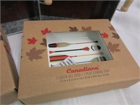 CANADIANA Metal Serving Trays and 1 Catch All Dish
