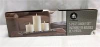 Decorative 5 Piece Candle Set