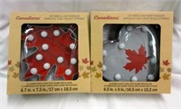 CANADIANA LED Maple Leaf Heart Marquee Signs