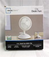 MAINSTAYS Clip Desk Fan