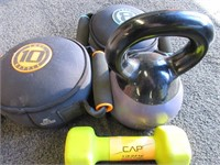 Misc. Kettle Bells and Dumbbell