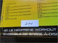 Cap Neoprene Plate Barbell Set