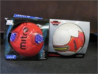 Pair of Wilson and Mitro Soccer Balls