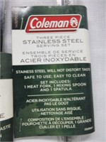 Lot of 2 Sets Coleman  Stainless Serving Set