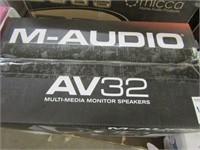 M-AUDIO - AV32 MULTI MEDIA MONITOR SPEAKERS
