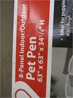 EIGHT PANEL INDOOR/OUTDOOR PET PEN