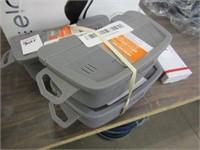 (3) WORM BAIT BOX