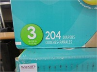 PAMPERS - 204 DIAPERS 16-28 LBS