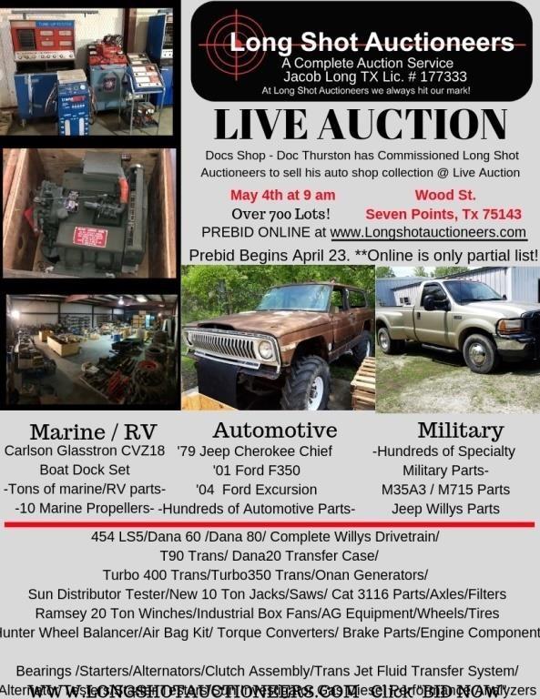 582 Lots   Docs Auto Shop Live Auction Online Prebid   HiBid Auctions