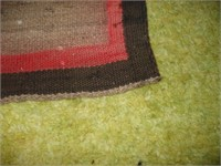 3 INDIAN STYLE WOVEN RUGS, SOME W/ DAMAGE