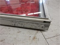 Metal Display Case with Glass Surface and Velvet L