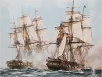 Battleship War Litho by MONTAGUE DAWSON
