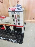 RARE 1950' Metal ALLSTATE GASOLINE Gas Station