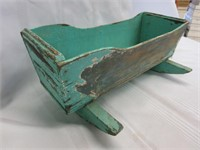 Early Wooden Childs Doll Cradle