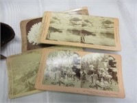 Antique Stereoscope Viewer with Slides