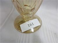 Vintage Iris Depression Glass Vase