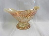 Antique Nautilis Carnival Glass Bowl