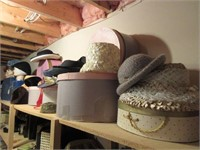 HUGE Lot of Vintage Ladies Hats and Original Boxes