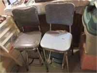 Retro Chrome and Vinyl Childrens High Chairs