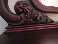 Antique Wooden Serpentine Front Dresser