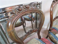 Antique Upholstered Balloon Chairs