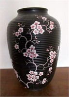 Antique Oriental Cherry Blossom Vase