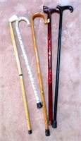 Lot of Various Walking Canes