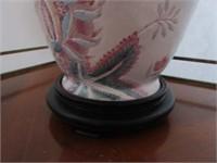 Antique Oriental Motif Inspired Lamp