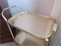 Vintage Gold Coloured Tea Trolley/Cart