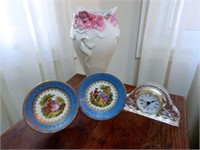 Grouping of Various Porcelain and Glass Mantle Clo