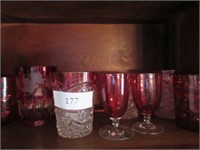 Grouping of Antique Cranberry Glass